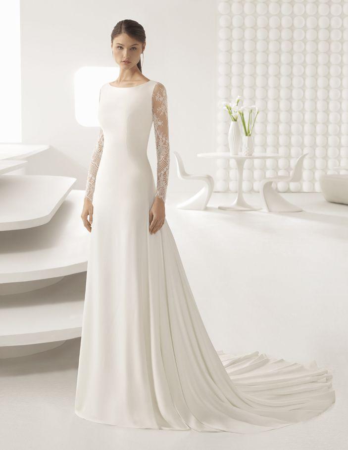 Vestidos De Novia De Invierno Rosa Clará Winter Wedding Dress Wedding Dresses Elegant Wedding Dress