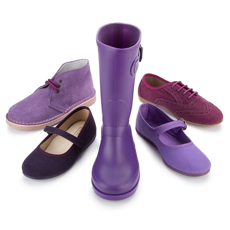 Zapatos morados de Pisamonas.