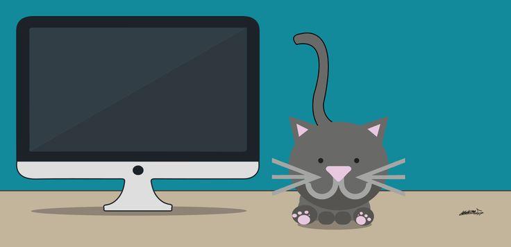 Este es SEM, el encargado de anunciarte mediante pago en los principales medios online. Diseño de La Olla Eléctrica. #Graphicdesign #Illustrator #Cat #SEO #SEM #Marketing #online #Publicidad #Advertising