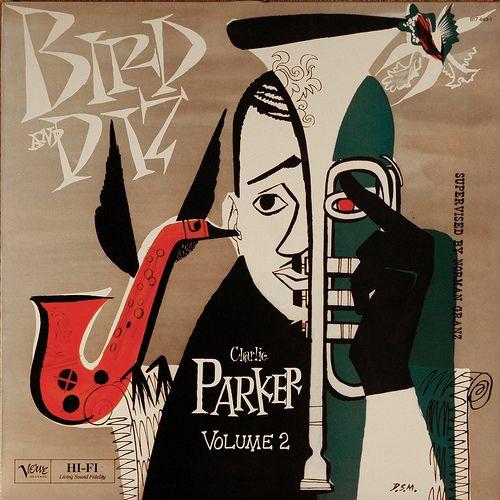 Bird & Diz - Charlie Parker Volume 2 - Verve - 1950s - cover by David Stone Martin