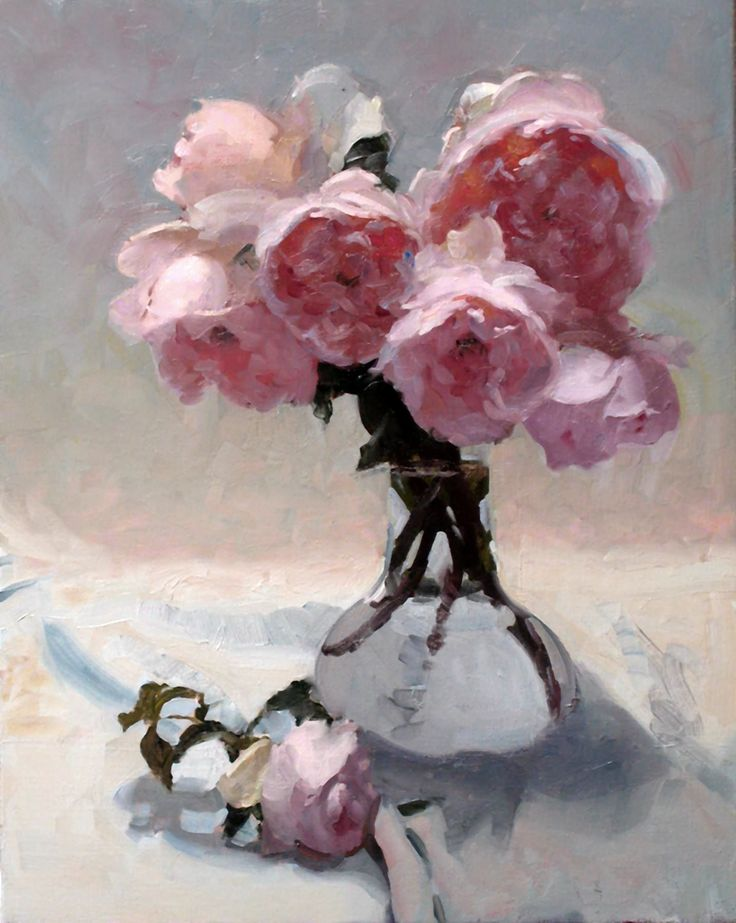 ❀ Blooming Brushwork ❀ garden and still life flower paintings - Dennis Perrin…