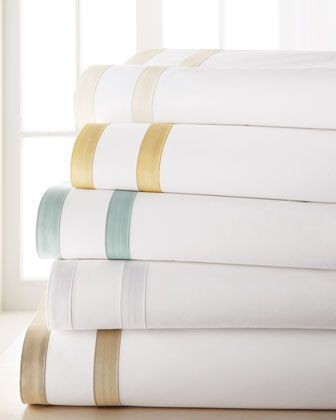 """Marlowe"""" Sheets & Shams by Matouk at Horchow.- in Sea Glass Matouk linens are prized worldwide for their uncompromising quality and hand-finished detailing by skilled craftsmen."""