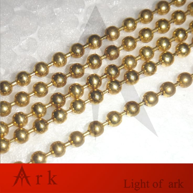 10M Diy Lighting Accessories copper Bead Chain Zipper Pull Cord Switch Line Color Golden For Pendant Lamp #Affiliate