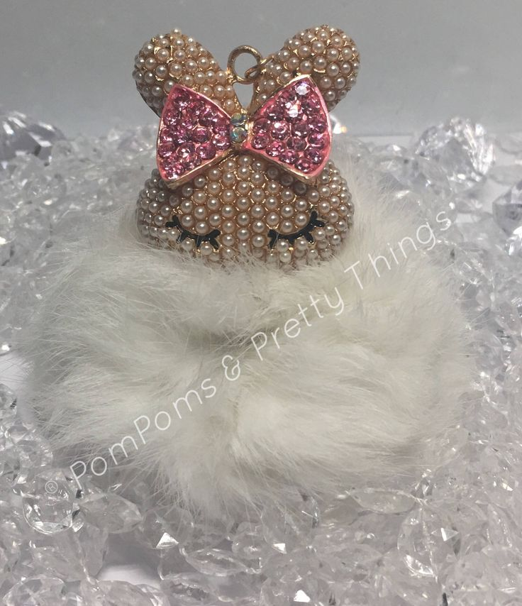 A personal favourite from my Etsy shop https://www.etsy.com/uk/listing/510605040/bling-bunny-pompom-key-ring-bag-charm
