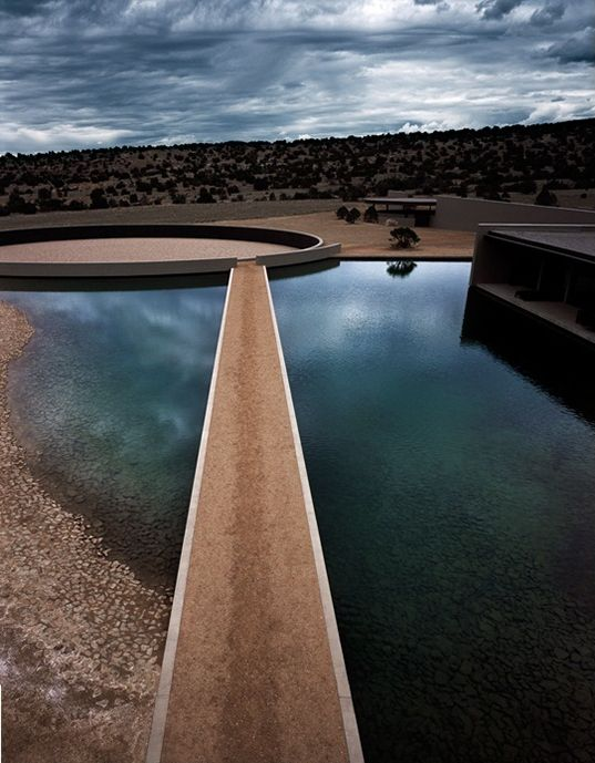 ndo in the desert : architecture meets fashion : tom ford's ranch in sante fe by tadao ando, japan