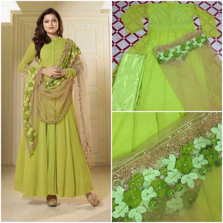 Ethnic Anarkali Salwar Kameez Indian Pakistani  Designer Suit Bollywood Dress #Nikah_786 #SalwarKameez