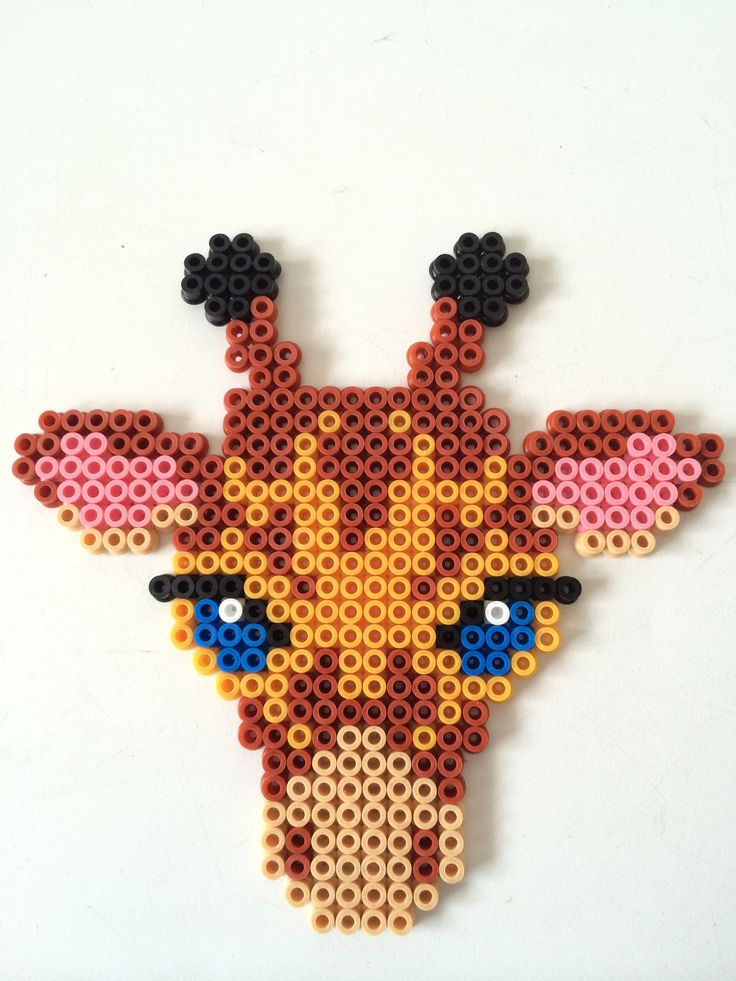 Giraffe hama perler beads by Louise Nielsen
