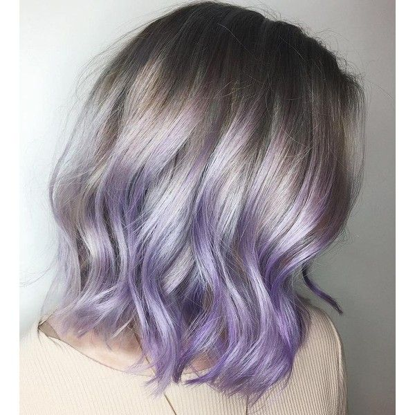 This Pastel Purple Style Would Look Even Better With Roots Fading Into The Color Short Purple Hair Pastel Purple Hair Short Ombre Hair