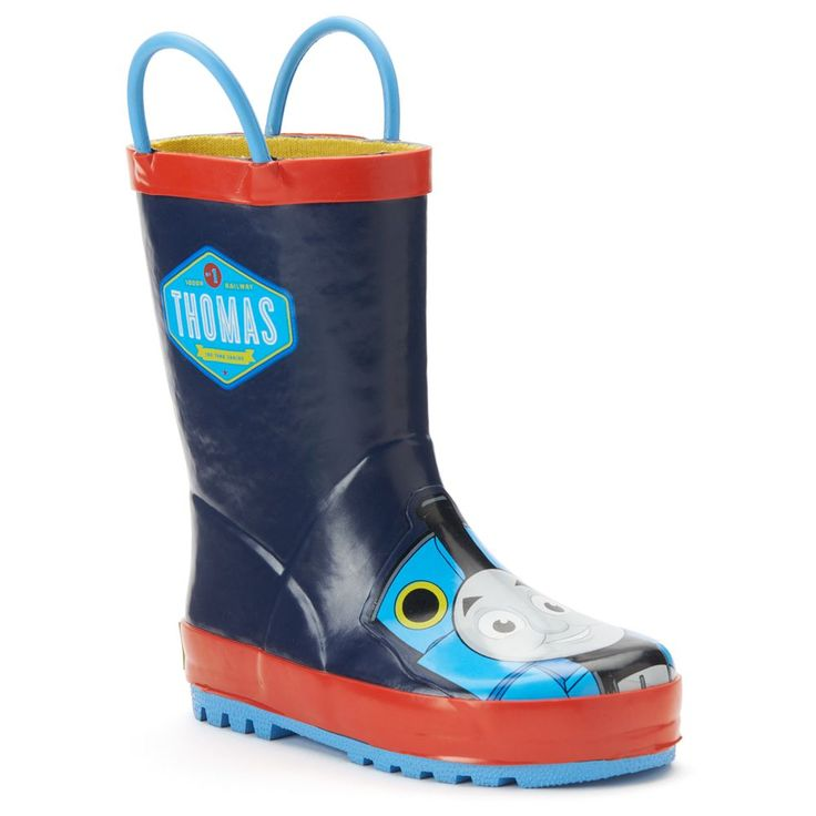 Western Chief Thomas the Tank Engine Toddler Boys' Rain Boots, Size: 10 T, Blue (Navy)