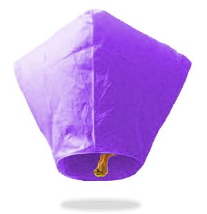 Purple Diamond Sky Lanterns