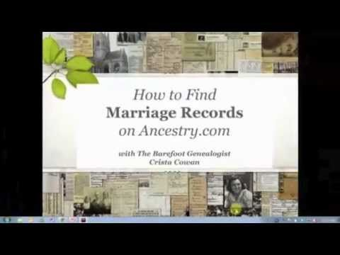 How to Find Marriage Records on Ancestry.com - Want to know what marriage records are on Ancestry.com? Want to know how best to search them to find your ancestors? Join Crista Cowan for the first in a 4-part series on marriage records. She will help you discover what marriage records exist and which of those are available on Ancestry.com. She'll also share her best search tips and tricks to help you find the marriage records of your family members.
