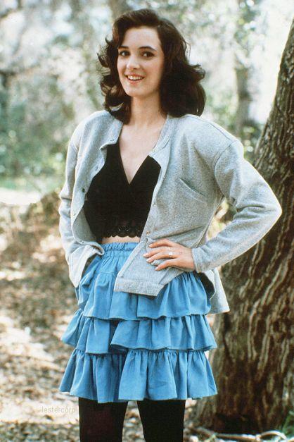 Wiona Ryder, you fashionable shark. #wionaryder #heathers #movies #fashion #shark