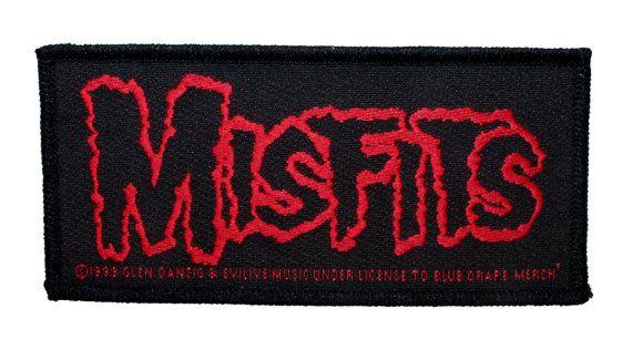 """Band """"Misfits"""" Horror Punk Rock Danzig Licensed Merchandise SewOn Applique Patch"""