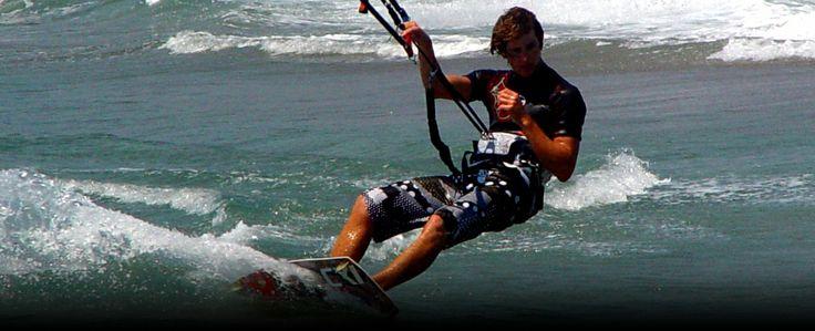 Kiteboarding around Sykia