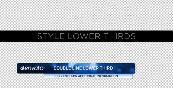 Style Lower Thirds customizable After Effects lower third project template for video.