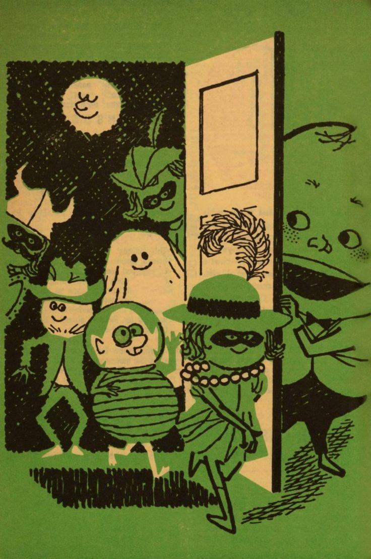 Vintage Halloween illustration from Humpty Dumpty Magazine.