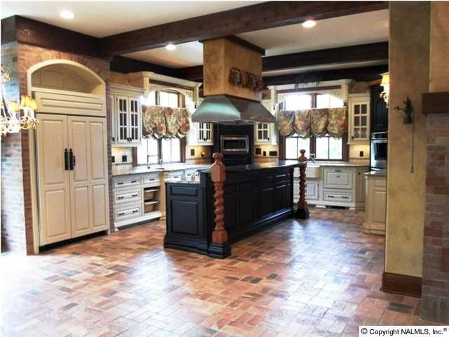 Kitchens With Brick Floors | This Home Is The Kitchen, Breakfast And Family  Room.