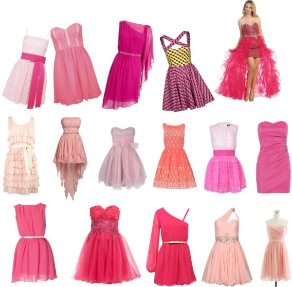 """roze jurken"" by noelvandeven ❤ liked on Polyvore liked it x"