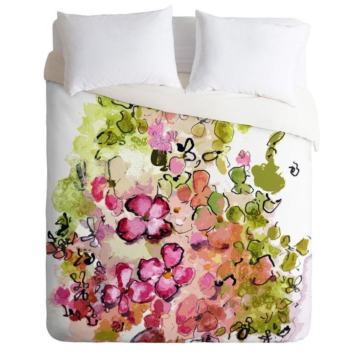 Ginette Fine Art Mille Fleurs Duvet Cover Duvet