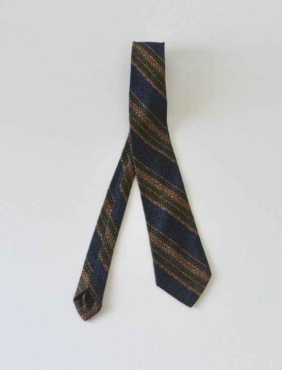 1960s Skinny Mad Men Tie w diagonal stripe