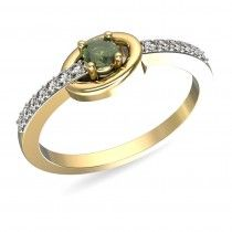 A green stone ring to make others go green with envy!  #loveforcolouredstones #buyasolitaire