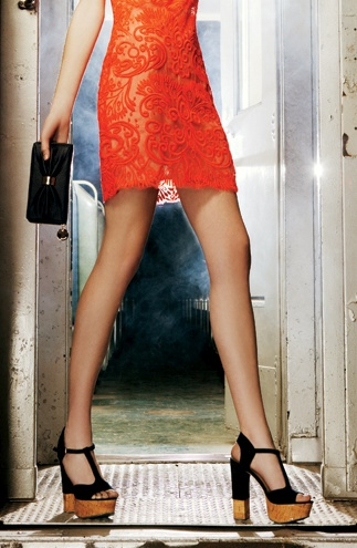 Cork Platform Heels / Dolce Vita: Darling Dresses, Party Dresses, Bohemian Chic, The Dress, Dresses Skirts, Orange Lace Dresses, Orange Dress, Shoes Shoes