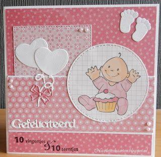 Nicolette's+kaarten:+Babykaartje