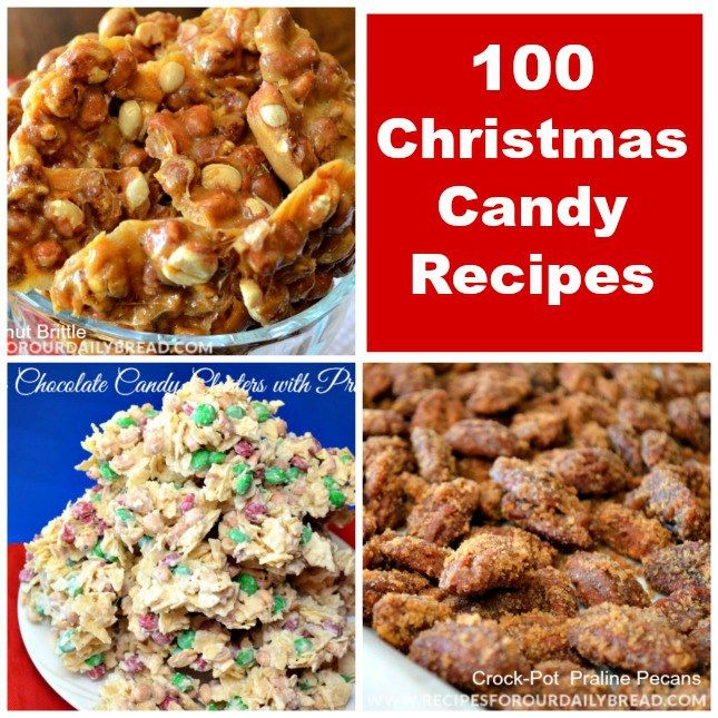 100 #Christmas Candy Recipes One of my favorite things to do during the Christmas season is making candy. I can never get enough Christmas Candy Recipes. This post includes 11 of my candy recipes and 92 from my favorite bloggers- One of my favorite things to do during the Christmas season is making candy. I can never get enough Christmas Candy Recipes. This post includes 11 of my candy recipes and 92 from my favorite bloggers. #candy