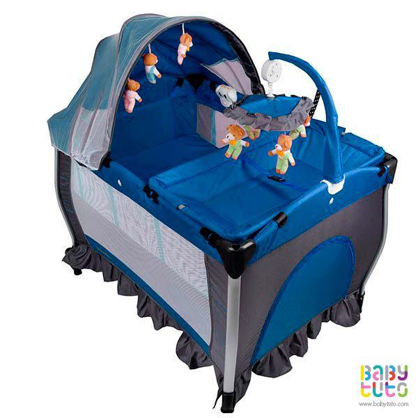 Cuna Pack & Play con mudador y centro de entretención azul, $109.990 (precio referencial). Marca Bebegló: http://bit.ly/1R9xNP9