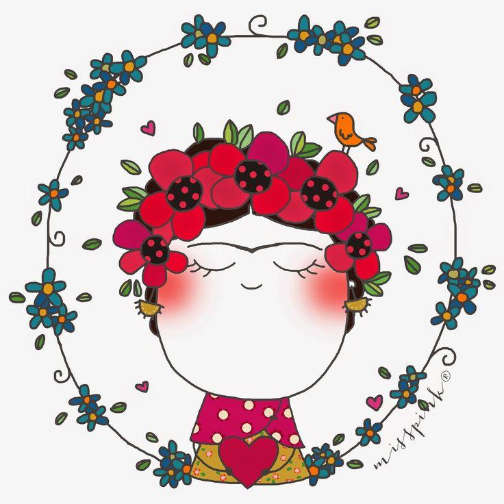 Frida Kahlo by misspink