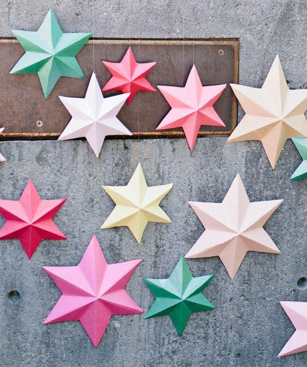 DIY - 3D bright paper stars