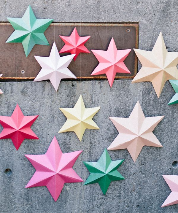 DIY - 3D bright paper stars | DIY Ideas | Pinterest ...