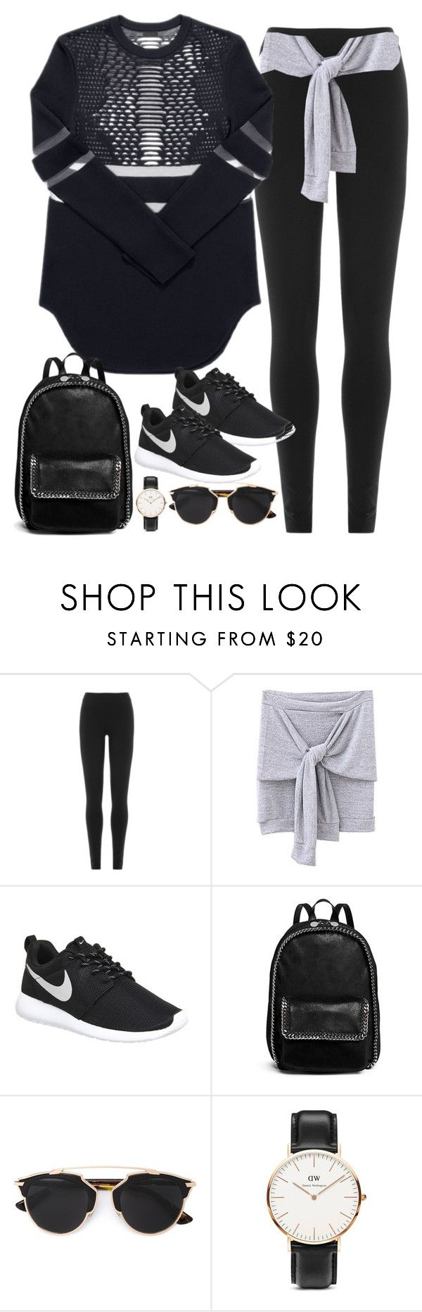 """""""Untitled#4148"""" by fashionnfacts ❤ liked on Polyvore featuring DKNY, NIKE, STELLA McCARTNEY, Christian Dior and Daniel Wellington"""