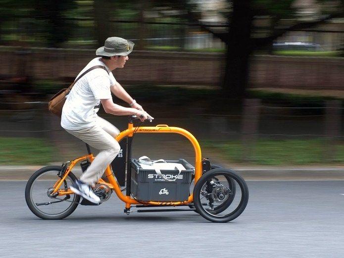 三輪カーゴバイク Stroke Cargo Trike コンパクトサイズの電動アシスト三輪自転車 カーゴバイク カーゴバイク 自転車 カーゴ