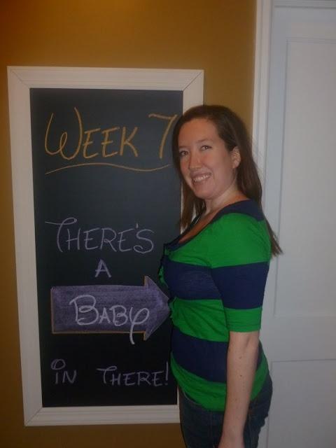 Week 7 Chalkboard Maternity Timeline