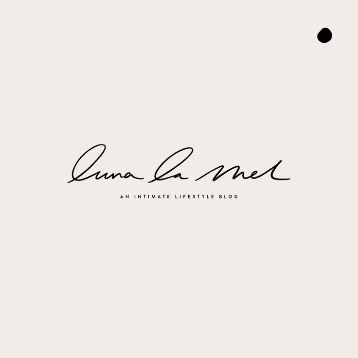 Luna La Mel Logo Hand Lettering by Mel Volkman Custom Logo Brush Lettering Hand Lettering Custom Logo Custom Branding Beautiful Design Beautiful Branding