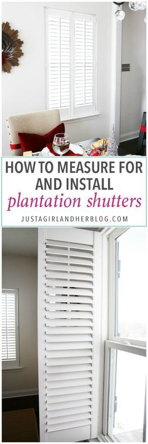 Best 10 plantation shutter ideas on pinterest curtains Home decorators blinds installation