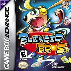 Blender Bros (Infogames), GBA;  action/platform game for Game Boy Advance developed by Hudson Soft & published by Infogrames. Blender is a fearless leader of the Cosmo Keepers. He is determined to save the galaxy from the evil, but cute Zooligans. He has a huge set of ears that he can use for sonar (for figuring out where to go in a level), to fly for a short period of time, or to hit enemies with his signature spin move. game is a standard platform game. Gamespot gave it 7.4.