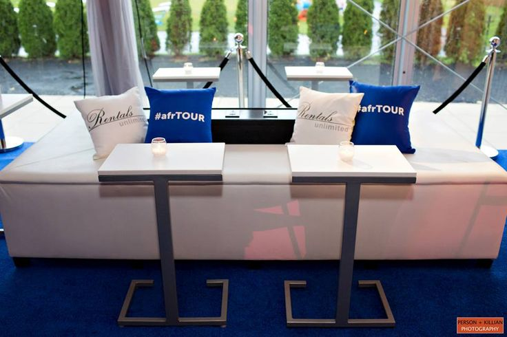 Essentials Charging Station With Custom Branded Pillows By Afr Furniture Via Rentals Unlimited