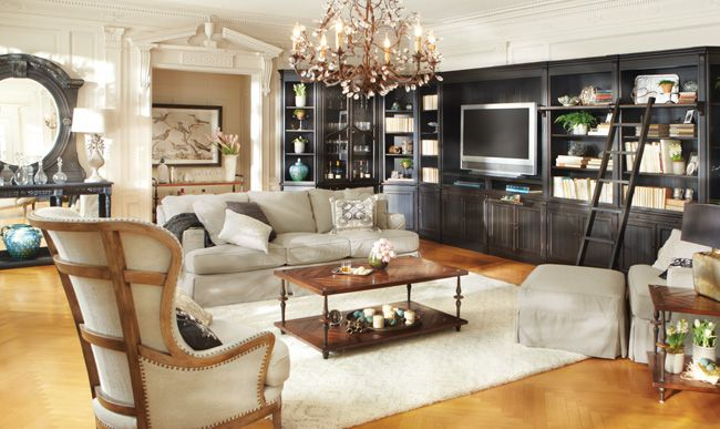 Arhaus - Athens modular wall unit. Love these bookcases ...