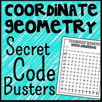 This Coordinate Geometry Code Busters activity is a unique and fun way to practice plotting and naming points in the first quadrant of the coordinate plane. In this game, each point on the coordinate plane corresponds with a letter in the alphabet.