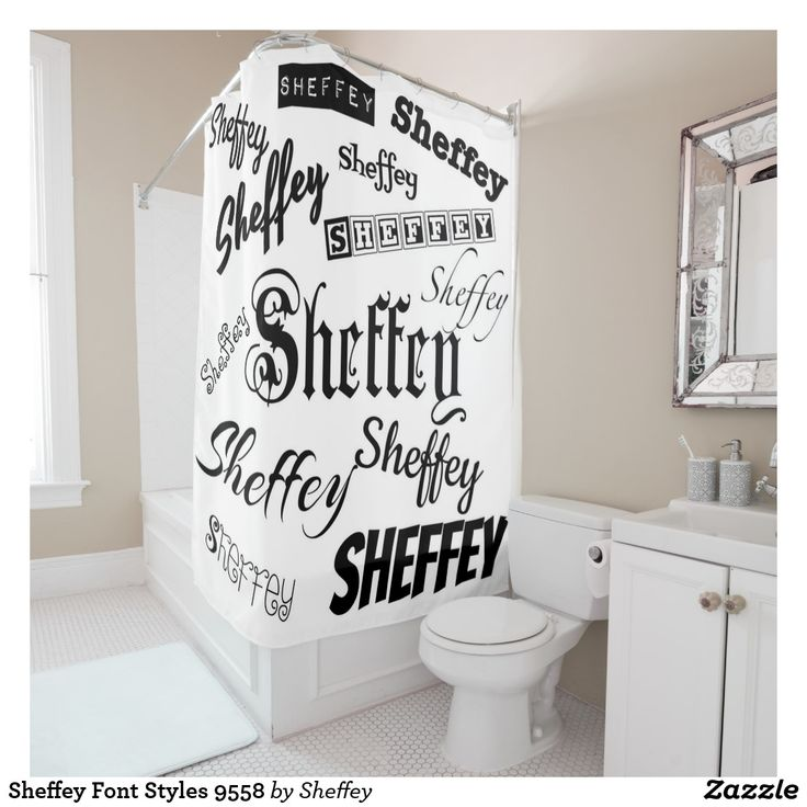 Sheffey Font Styles 9558 Shower Curtain - wonderful backdrop for a variety of occasions including a reunion!