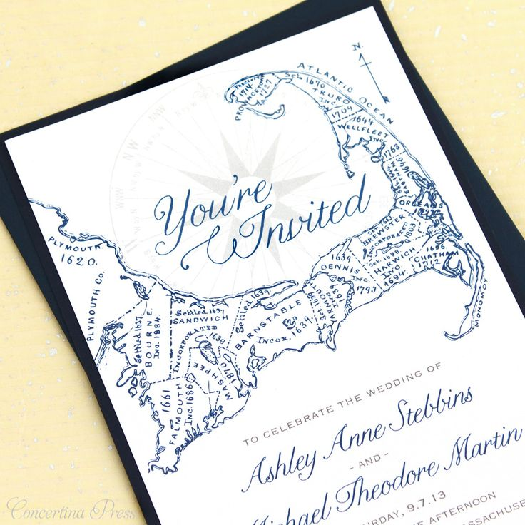 I would do a middle earth style map of our location!   Cape Cod Wedding Invitations by Concertina Press