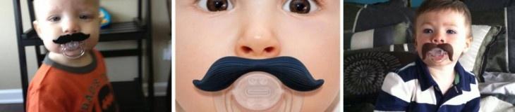 Bebê Hisper: Chupetas com bigode