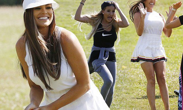 Fun in the sun! TOWIE cast enjoy a playful game of rounders