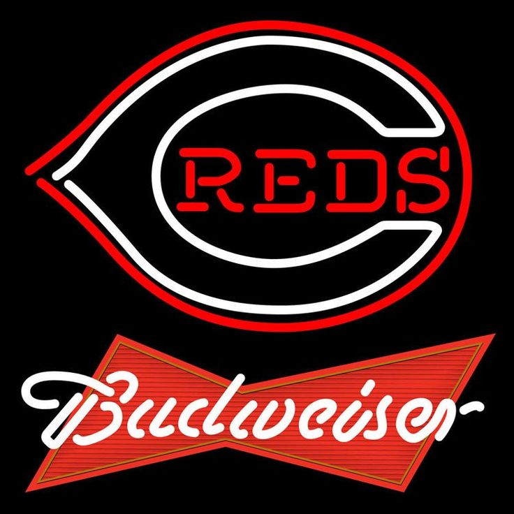 Budweiser Red Cincinnati Reds MLB Neon Sign x Beer with