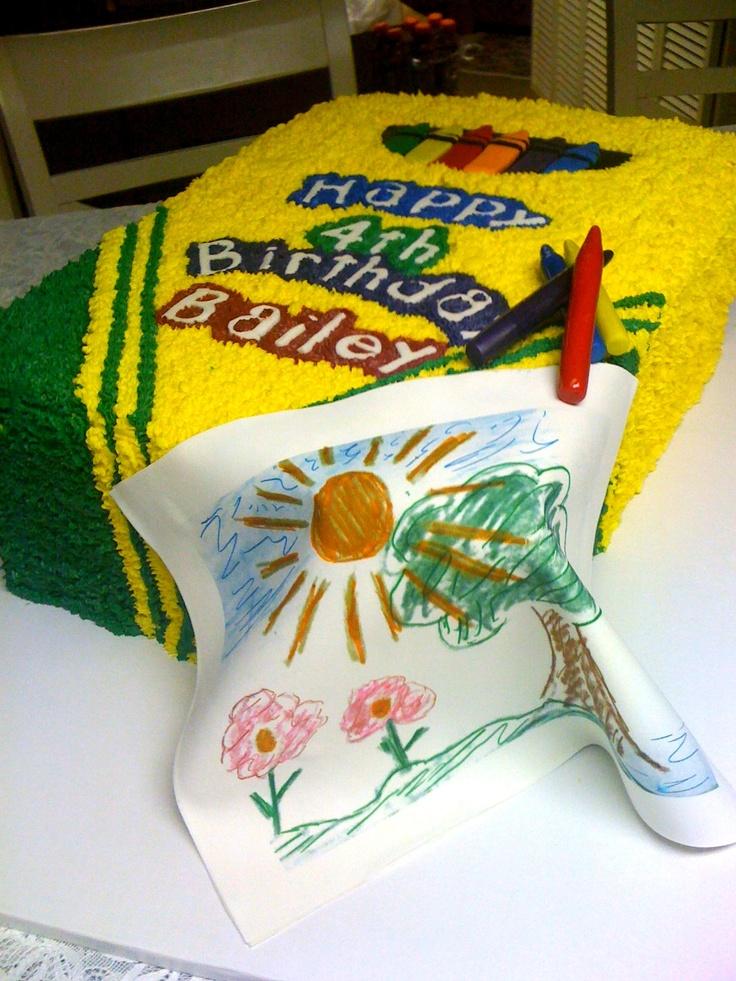 Children S Birthday Cakes Crayon Birhtday Cake Www