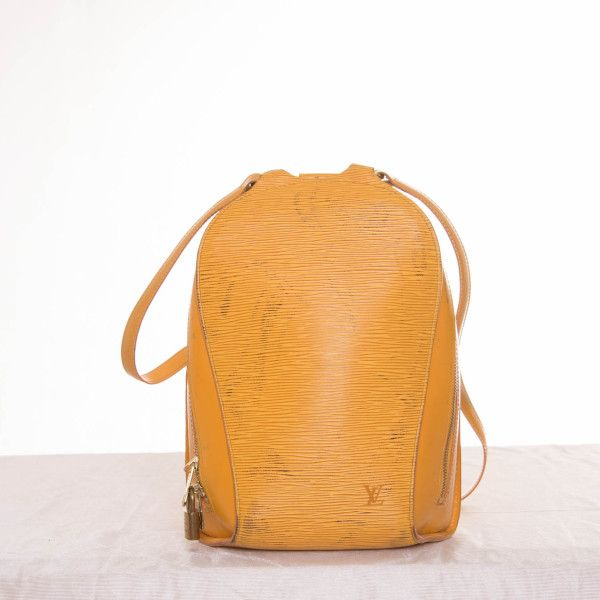 mochila mostaza de piel Louis Vuitton - Marketplace MitiendaVIP