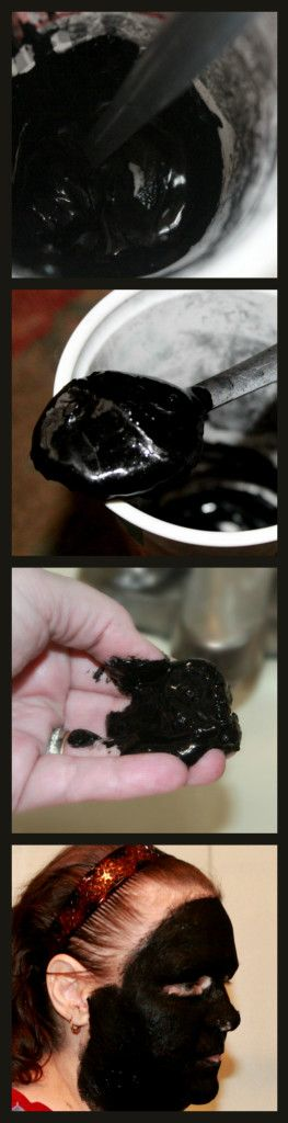 Simple charcoal facial mask recipe:  1 1/2 tbsp of activated charcoal powder 1 1/2 tsp of water (more or less)
