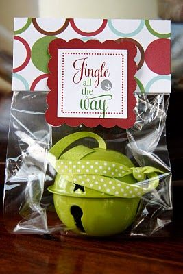 Cute Christmas gift. Jingle Bell in a bag